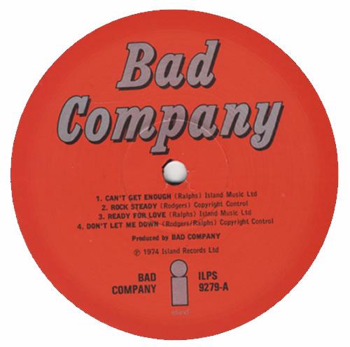 Bad Company Bad Company - EX vinyl LP album (LP record) UK BCOLPBA127358