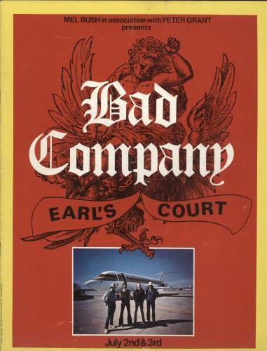 Bad Company Earl's Court tour programme UK BCOTREA345694
