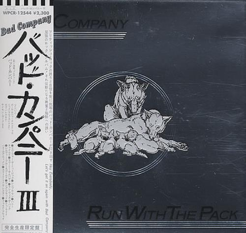 Bad Company Run With The Pack CD album (CDLP) Japanese BCOCDRU388062