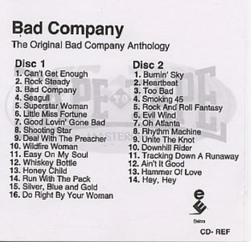Bad Company The Original Bad Company Anthology - 2 X Cd-r CD-R acetate UK BCOCRTH137079