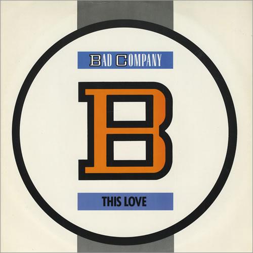 "Bad Company This Love 12"" vinyl single (12 inch record / Maxi-single) UK BCO12TH428731"