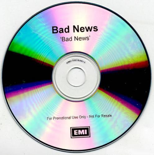 Bad News Bad News CD-R acetate UK BDNCRBA369639