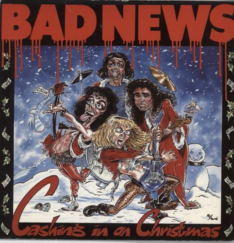 "Bad News Cashing In On Christmas 7"" vinyl single (7 inch record) UK BDN07CA67297"