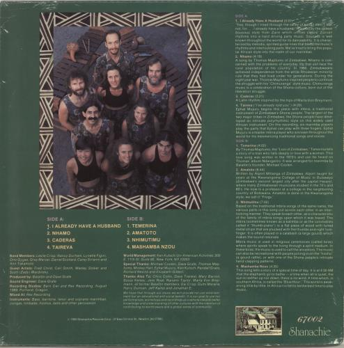 Balafon Marimba Ensemble Balafon Marimba Ensemble vinyl LP album (LP record) US QGLLPBA694040