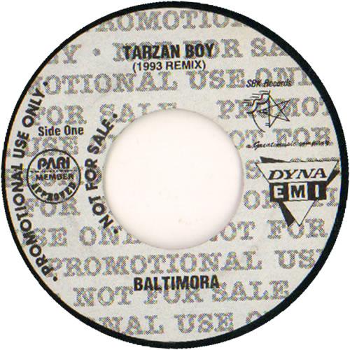 """Baltimora Tarzan Boy 7"""" vinyl single (7 inch record) Philippino BTI07TA638536"""