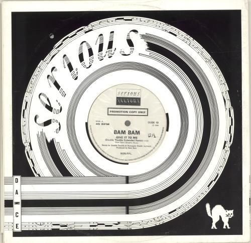 "Bam Bam Give It To Me (Remix) 12"" vinyl single (12 inch record / Maxi-single) UK IH912GI689370"