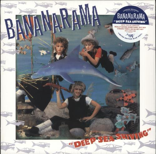 Bananarama Deep Sea Skiving - Blue Vinyl + CD - Sealed vinyl LP album (LP record) UK BANLPDE709126