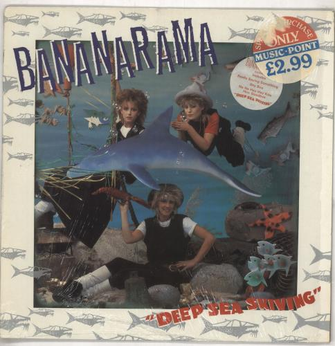 Bananarama Deep Sea Skiving - Stickered Sleeve Plus Merch insert vinyl LP album (LP record) UK BANLPDE740398