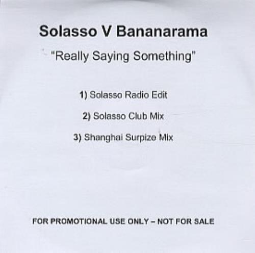 Bananarama Really Saying Something CD-R acetate UK BANCRRE317267