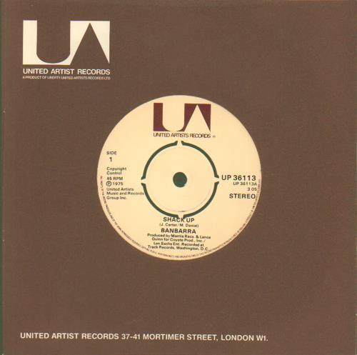 "Banbarra Shack Up 7"" vinyl single (7 inch record) UK E5307SH677561"