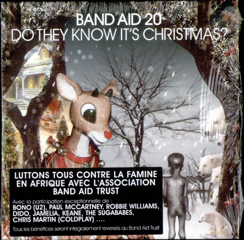 "Band Aid Band Aid 20 - Do They Know It's Christmas? CD single (CD5 / 5"") French AIDC5BA530135"