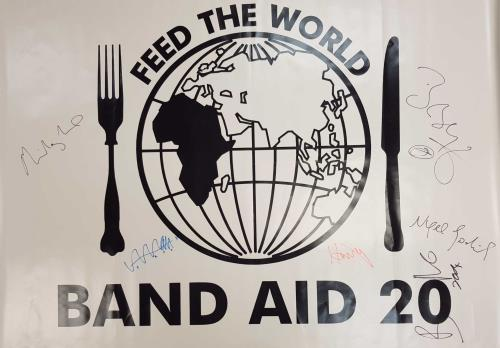 Band Aid Band Aid 20 - Feed The World - Autographed PVC Banner display UK AIDDIBA676089