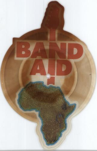 Band Aid Do The Know It's Christmas shaped picture disc (picture disc vinyl record) UK AIDSHDO429959
