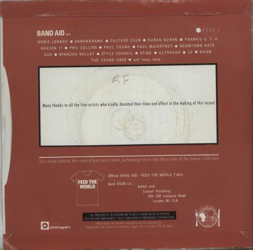 """Band Aid Do They Know It's Christmas? - 1st 7"""" vinyl single (7 inch record) UK AID07DO398891"""