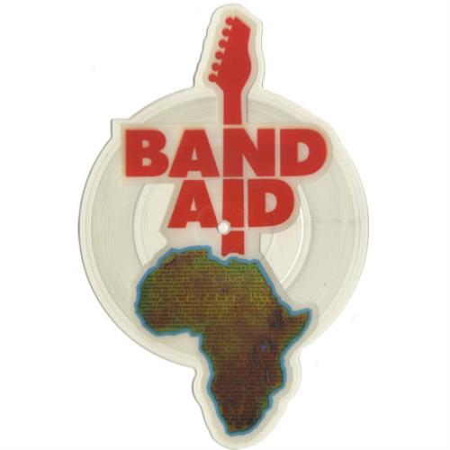 Band Aid Do They Know It's Christmas? shaped picture disc (picture disc vinyl record) UK AIDSHDO16791