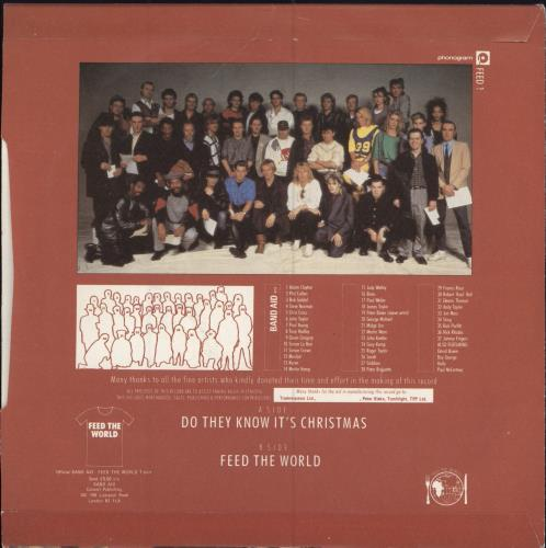 """Band Aid Do They Know It's Christmas - 2nd - Inj 7"""" vinyl single (7 inch record) UK AID07DO47100"""