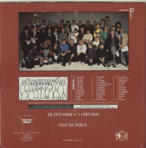 "Band Aid Do They Know It's Christmas - inj 7"" vinyl single (7 inch record) French AID07DO686787"