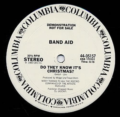 """Band Aid Do They Know It's Christmas 12"""" vinyl single (12 inch record / Maxi-single) US AID12DO49917"""