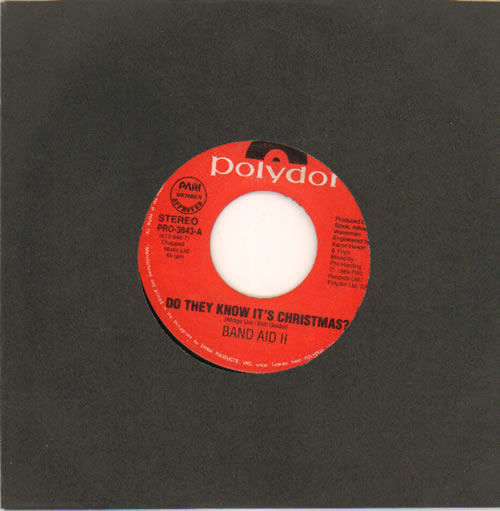 "Band Aid Do They Know It's Christmas 7"" vinyl single (7 inch record) Philippino AID07DO638477"