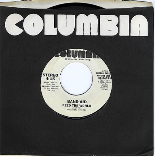 "Band Aid Feed The World 7"" vinyl single (7 inch record) US AID07FE360449"