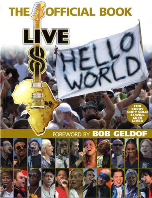 Band Aid Live 8 - The Official Book book UK AIDBKLI560375