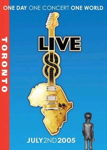 Band Aid Live 8 Toronto DVD UK AIDDDLI340273