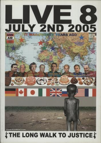 Band Aid Live 8 tour programme UK AIDTRLI377713