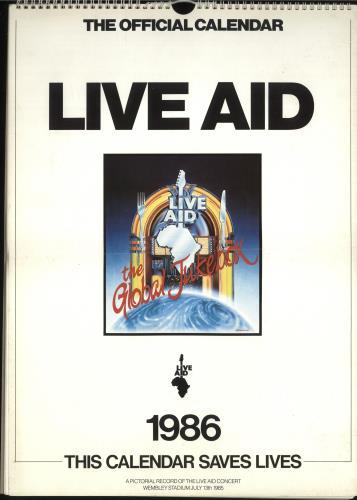 Band Aid Live Aid - EX calendar UK AIDCALI699900