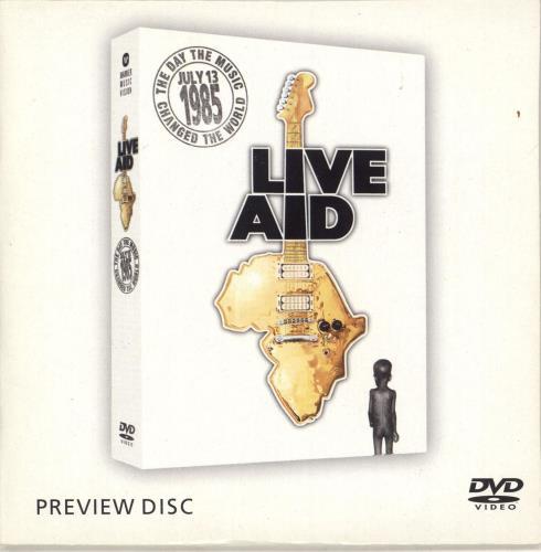 Band Aid Live Aid - Sampler Preview Disc DVD UK AIDDDLI307676