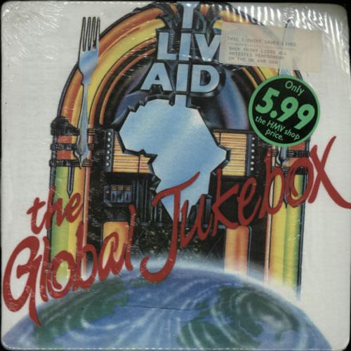 Band Aid Live Aid - The Concert + T-Shirt book UK AIDBKLI622021