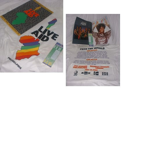 Band Aid Live Aid Tour Pack - Programme, Shirt & Ticket memorabilia US AIDMMLI158418