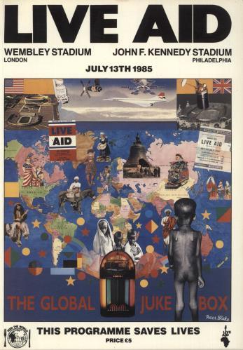Band Aid Live Aid tour programme UK AIDTRLI557669