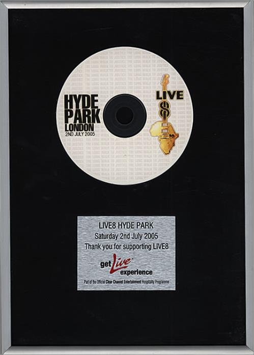 Band Aid Live8 Hyde Park in-house award disc UK AIDAILI474684