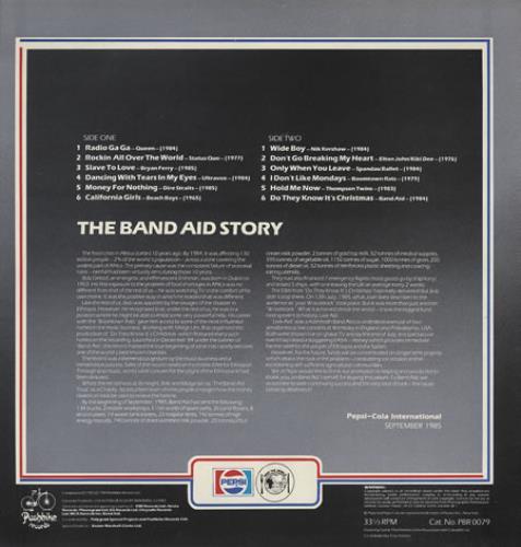 Band Aid Pepsi Band Aid Hits vinyl LP album (LP record) UK AIDLPPE60390