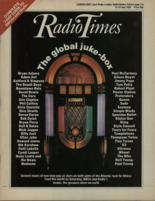 Band Aid Radio Times magazine UK AIDMARA617691