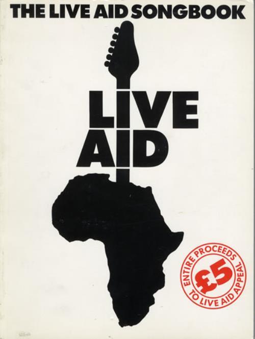Band Aid The Live Aid Songbook book UK AIDBKTH550100