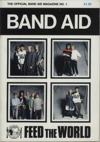 Band Aid The Official Band Aid Magazine No.1 + Poster Magazine magazine UK AIDMATH677615