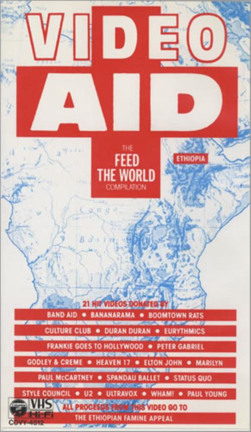 Band Aid Video Aid - The Feed The World Compilation video (VHS or PAL or NTSC) Japanese AIDVIVI434267