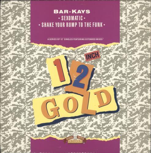 "Bar-Kays 12 Inch Gold 12"" vinyl single (12 inch record / Maxi-single) UK B\K12IN720758"