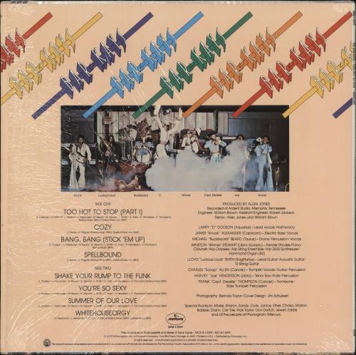 Bar-Kays Too Hot To Stop vinyl LP album (LP record) US B\KLPTO728787