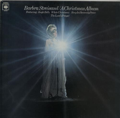 Barbra Streisand A Christmas Album - Gold promo stamped vinyl LP album (LP record) UK BARLPAC645274