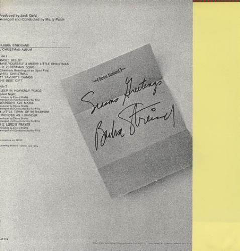 Barbra Streisand A Christmas Album vinyl LP album (LP record) Japanese BARLPAC355942