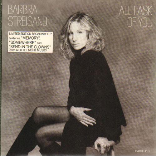 "Barbra Streisand All I Ask Of You E.P 7"" vinyl single (7 inch record) UK BAR07AL65134"