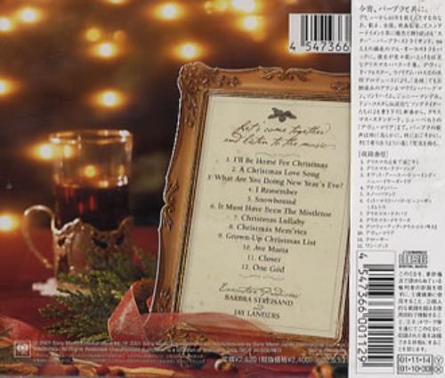 Barbra Streisand Christmas Memories CD album (CDLP) Japanese BARCDCH196915