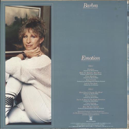 Barbra Streisand Emotion vinyl LP album (LP record) Japanese BARLPEM710945