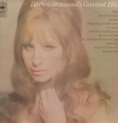 Barbra Streisand Greatest Hits - Orange Label vinyl LP album (LP record) UK BARLPGR362113