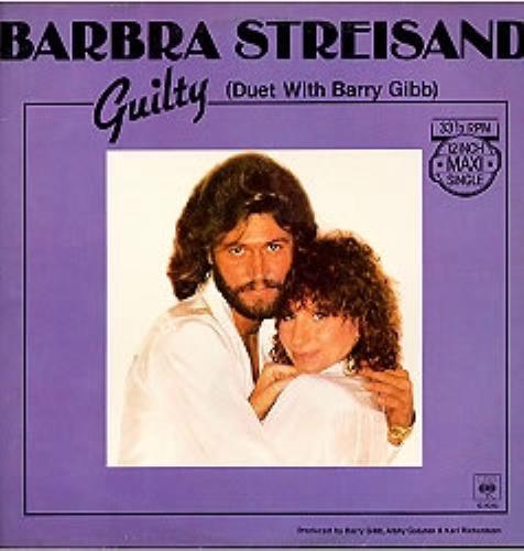 "Barbra Streisand Guilty 12"" vinyl single (12 inch record / Maxi-single) German BAR12GU175487"
