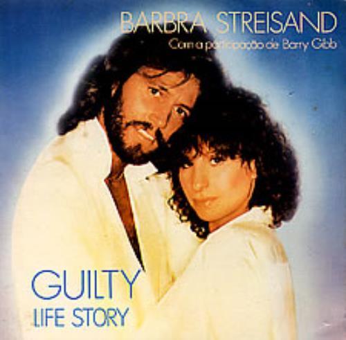 "Barbra Streisand Guilty 7"" vinyl single (7 inch record) Mexican BAR07GU258746"
