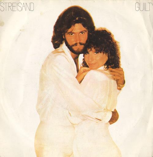 "Barbra Streisand Guilty 7"" vinyl single (7 inch record) French BAR07GU45207"