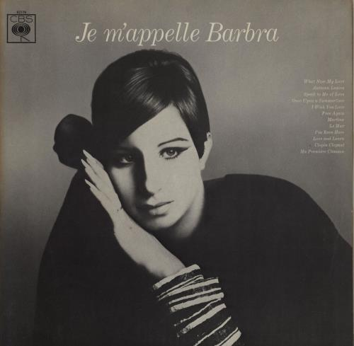 Barbra Streisand Je M'appelle Barbra - 1st vinyl LP album (LP record) UK BARLPJE751836